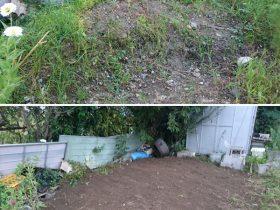土砂整地作業の一例です。